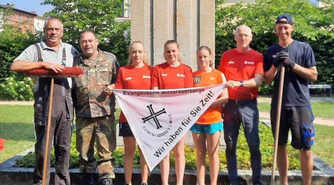 Militärpfarramt organisierte Arbeitseinsatz am Blücherdenkmal